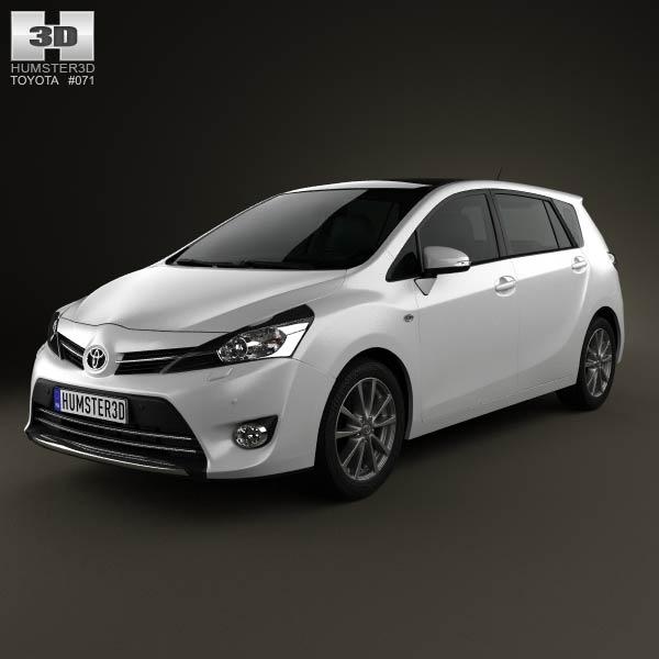 3D model of Toyota Verso (E'Z) 2013