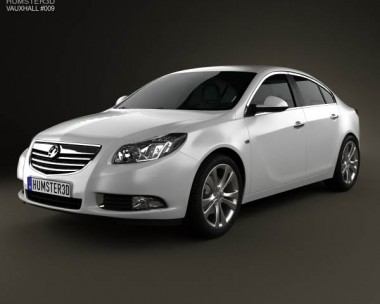 3D model of Vauxhall Insignia hatchback 2012