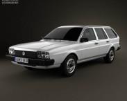 3D model of Volkswagen Passat (B2) variant 1981