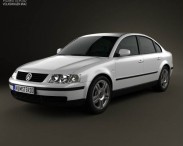 3D model of Volkswagen Passat B5 sedan 1997