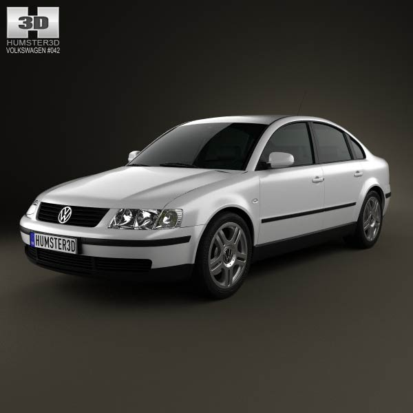 Volkswagen Passat B5 sedan 1997 3d car model