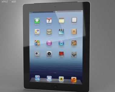 3D model of Apple iPad 4 Cellular
