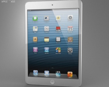 3D model of Apple iPad Mini White