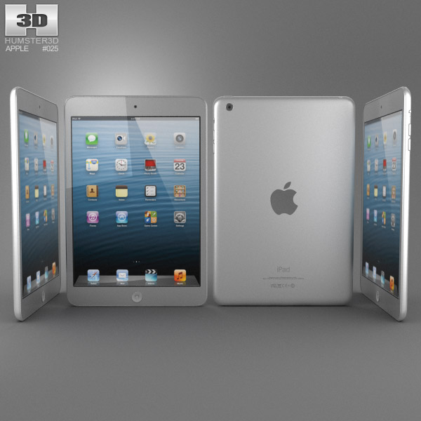 Apple iPad Mini White 3d model