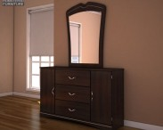 3D model of Ashley Julianna Dresser & Mirror