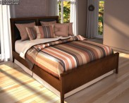 3D model of Ashley Nico Queen Panel Bed