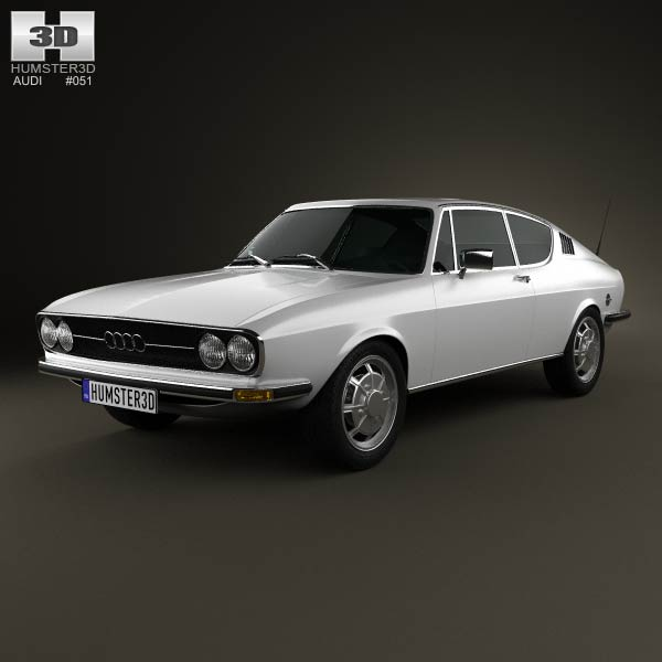 Audi 100 Coupe S 1970 3d car model