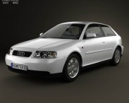 3D model of Audi A3 (8L) 3-door 2003