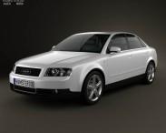 3D model of Audi A4 (B6) sedan 2002