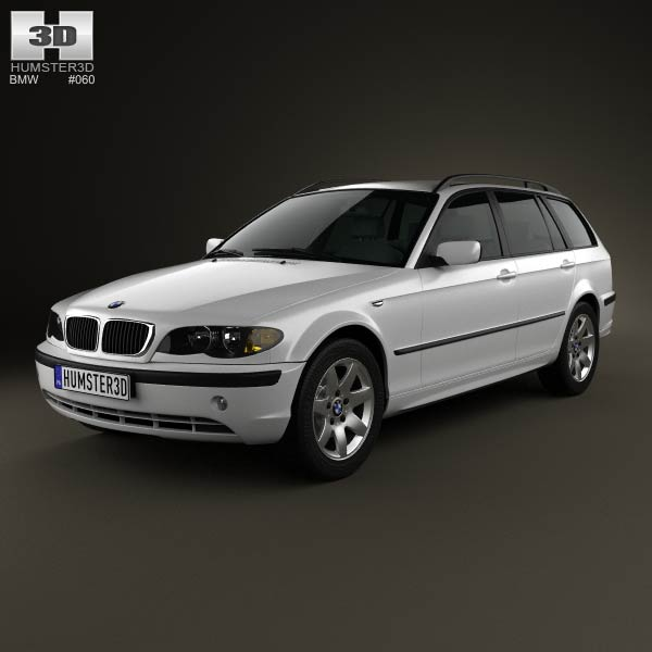 BMW 3 Series touring (E46) 2001 3d car model