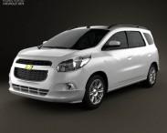 3D model of Chevrolet Spin 2012