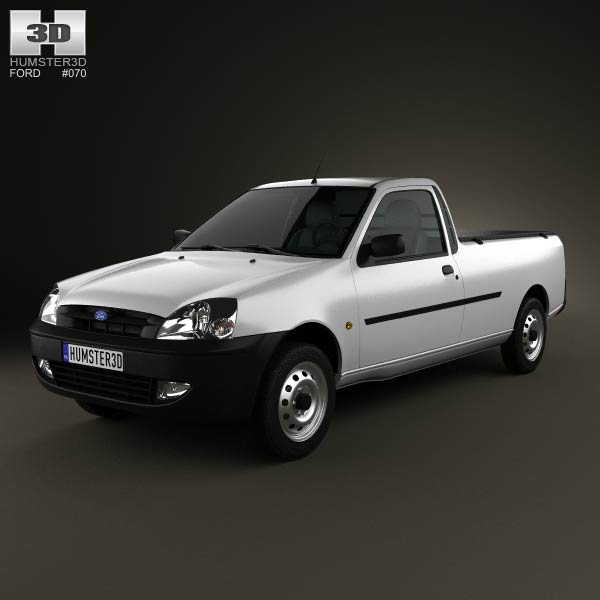 Ford Courier 2011 3d car model