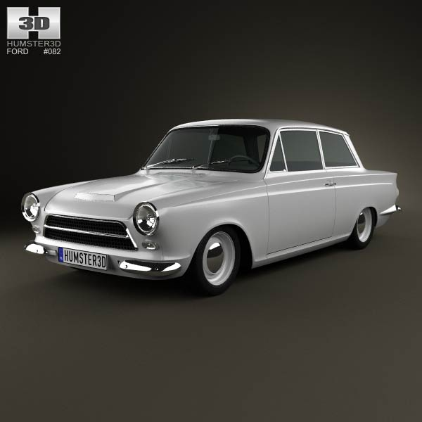 Ford Lotus Cortina Mk1 1963 3d car model