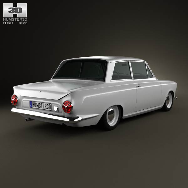 Ford Lotus Cortina Mk1 1963 3d model
