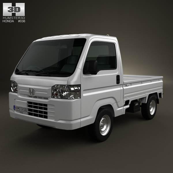 Honda Acty (Vamos) Truck 2012 3d car model