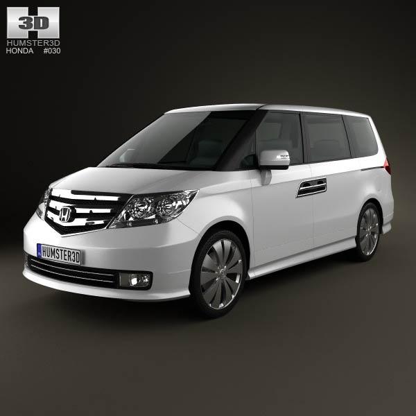 Honda Elysion 2012 3d car model