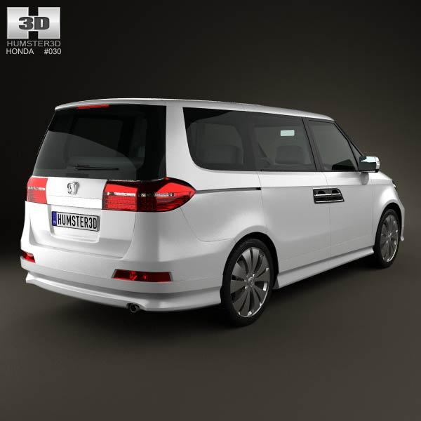 Honda Elysion 2012 3d model