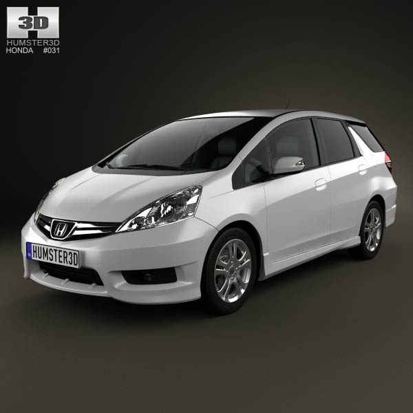 Honda Fit (Jazz) Shuttle 2012 3d car model