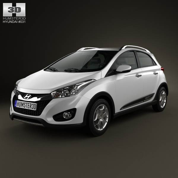 Hyundai HB20X 2013 3d car model