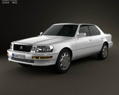 3D model of Lexus LS (XF10) 1989