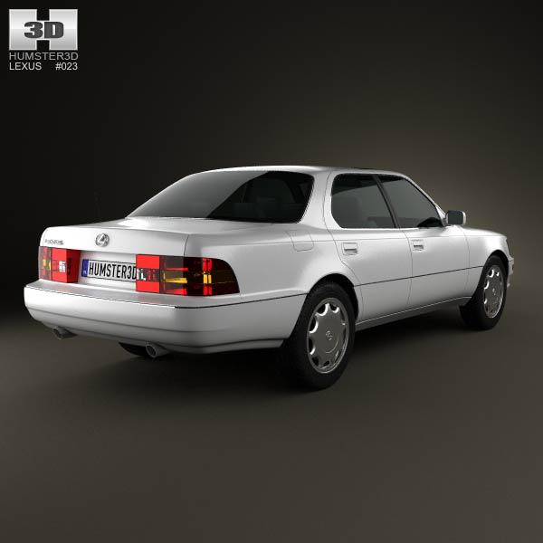 Lexus LS (XF10) 1989 3d model