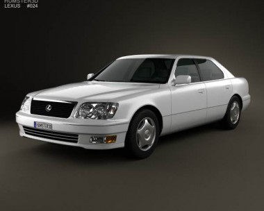 3D model of Lexus LS (XF20) 1997
