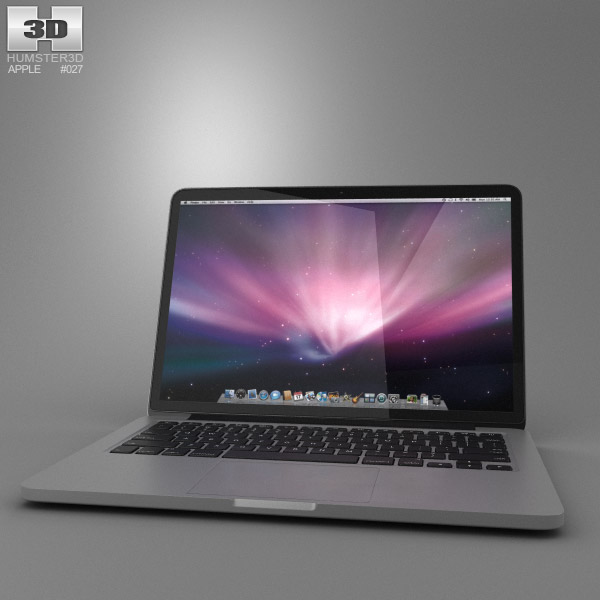 Apple MacBook Pro with Retina display 13 inch 3d model