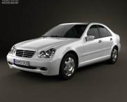 3D model of Mercedes-Benz C-class (W203) sedan 2005