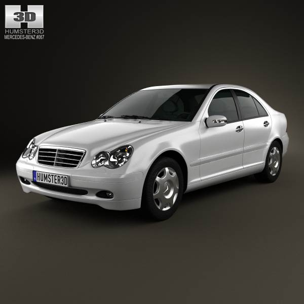 Mercedes-Benz C-class (W203) sedan 2005 3d car model