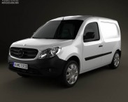 3D model of Mercedes-Benz Citan Panel Van 2012