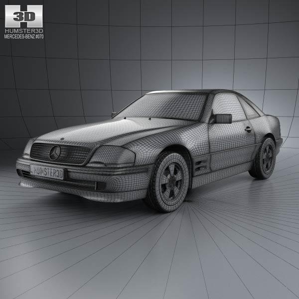 Mercedes benz sl class r129 2002 3d model humster3d for Mercedes benz different models