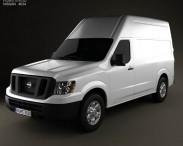 3D model of Nissan NV Cargo Van High Roof 2013