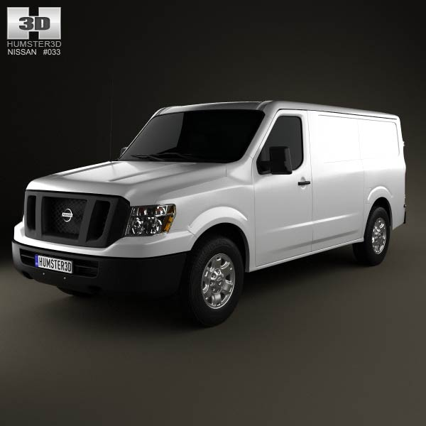 Nissan NV Cargo Van Standard Roof 2013 3d car model