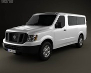 3D model of Nissan NV Passenger Van Standard Roof 2013