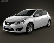 3D model of Nissan Tiida 2013