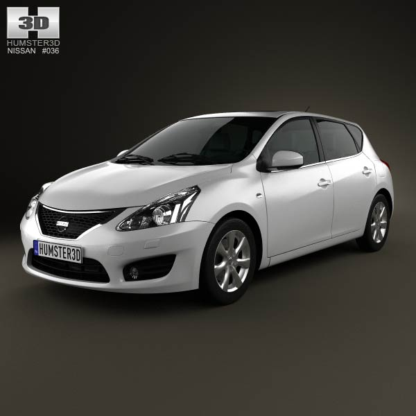 Nissan Tiida 2013 3d car model