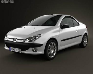3D model of Peugeot 206 CC 2005