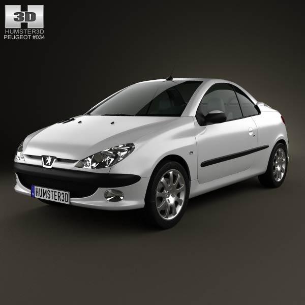 Peugeot 206 CC 2005 3d car model