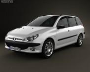 3D model of Peugeot 206 SW 2005