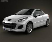 3D model of Peugeot 207 CC 2012