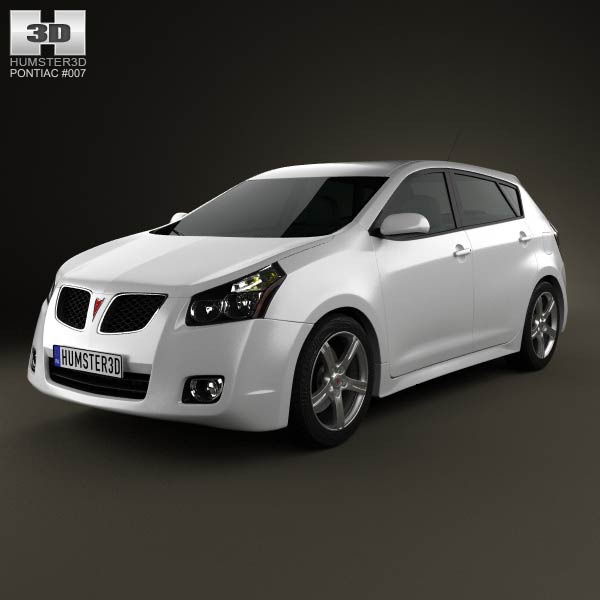 Pontiac Vibe 2009 3d car model