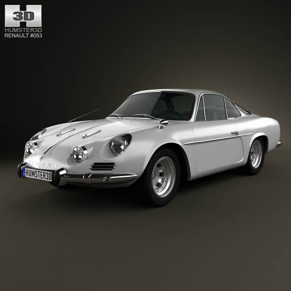 Renault Alpine A110 1970 3d car model