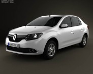 3D model of Renault Symbol (Logan) 2013