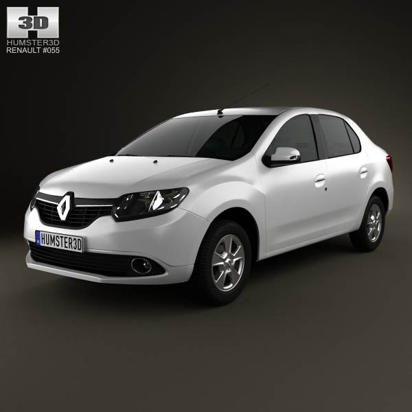 Renault Symbol (Logan) 2013 3d car model
