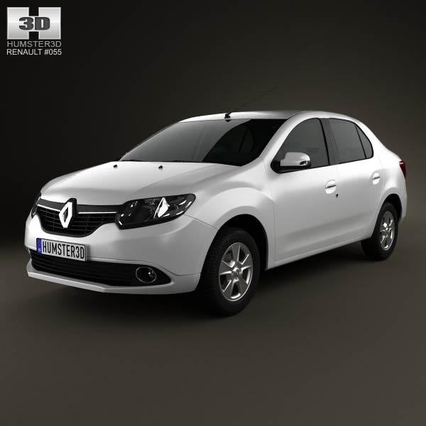 Renault Symbol (Logan) 2013 3d car model