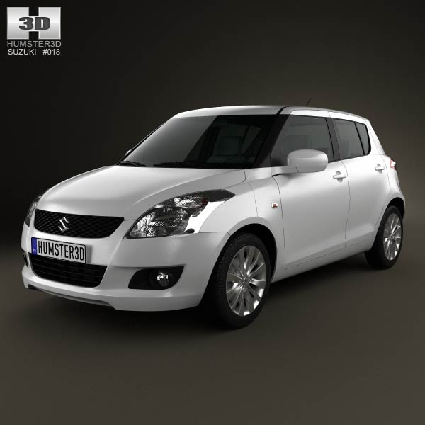 Suzuki Swift hatchback 5-door 2012 3d car model