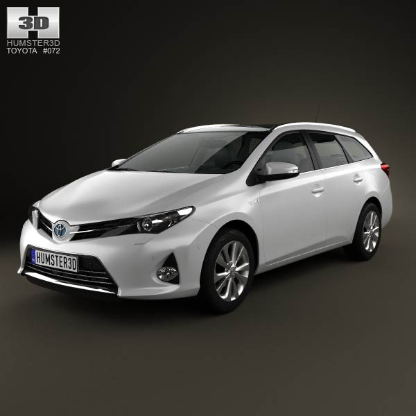 toyota auris touring hybrid 2013 3d model humster3d. Black Bedroom Furniture Sets. Home Design Ideas