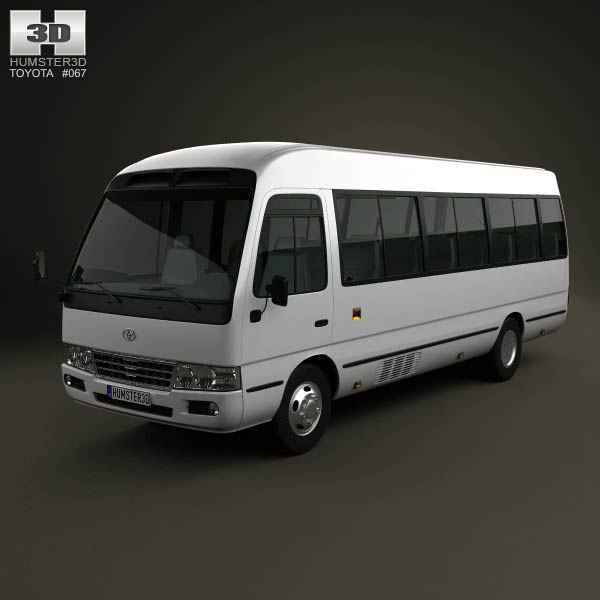Toyota Coaster B50 2012 3d car model