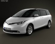 3D model of Toyota Previa 2012