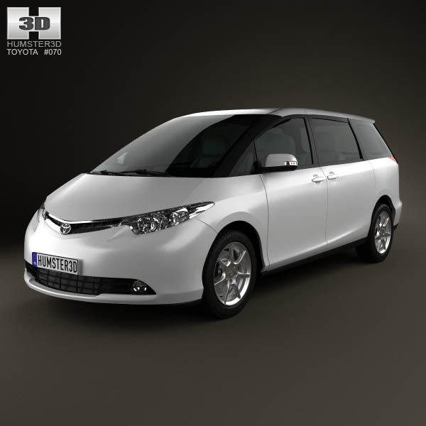 Toyota Previa 2012 3d car model